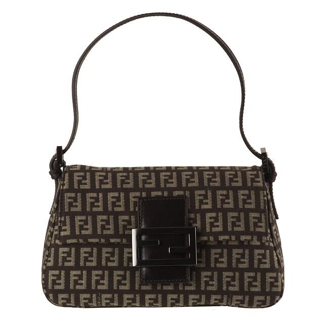 9f5e6081dc7b Shop Fendi Jacquard Zucchino Mini Mamma Bag - Free Shipping Today -  Overstock - 2591574