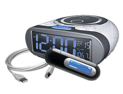 CD Player/ Alarm Clock/ MP3 Player Package