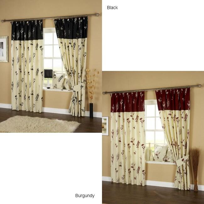 Milan Rod Pocket Curtain Panel Pair