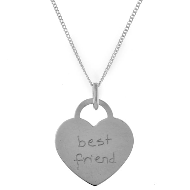 Sterling Essentials Sterling Silver Tween Best Friend Necklace