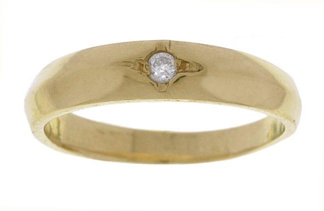 14k Yellow Gold Diamond Baby Ring