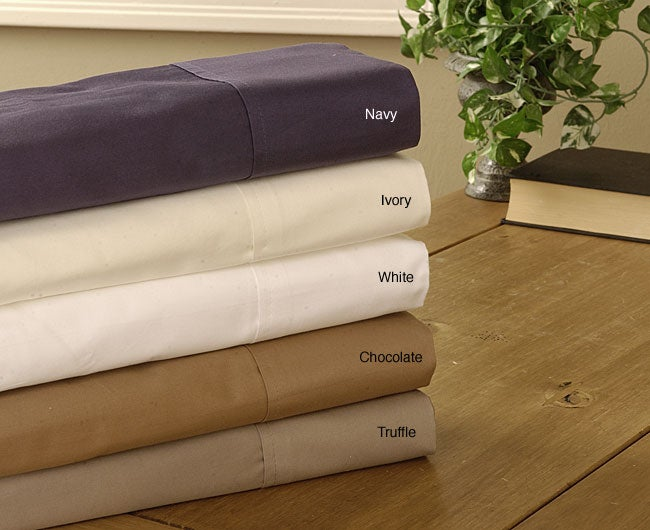 Westwood Park 600 Thread Count Solid Sateen Sheet Set