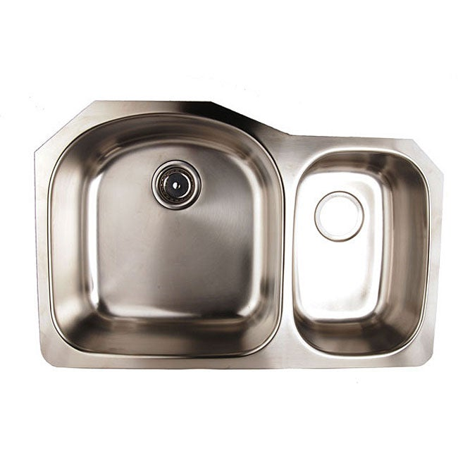 Franke Stainless Steel : Franke EuroPro Undermount Steel GNX11028 Stainless Steel Kitchen Sink