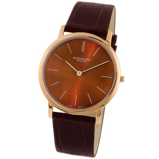 68bad2eeb Shop Stuhrling Original 'Ascot' Men's Ultra Thin Watch - Free Shipping  Today - Overstock - 2598474