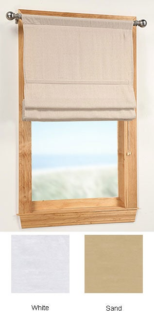 Shop Twill 30 Inch Soft Roman Window Shade Free Shipping On Orders