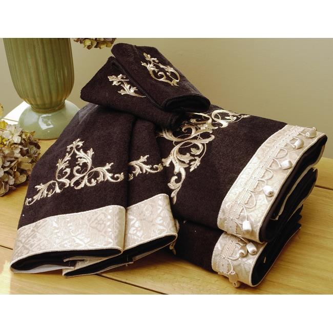 Monaco Black Towels (Set of 6)