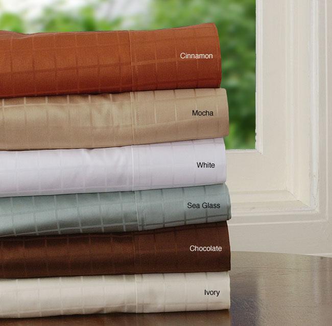360 Thread Count Windowpane Sateen Sheet Set