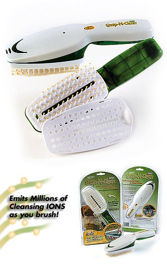 3-piece Snap-n-Clean Comb and Brush Set