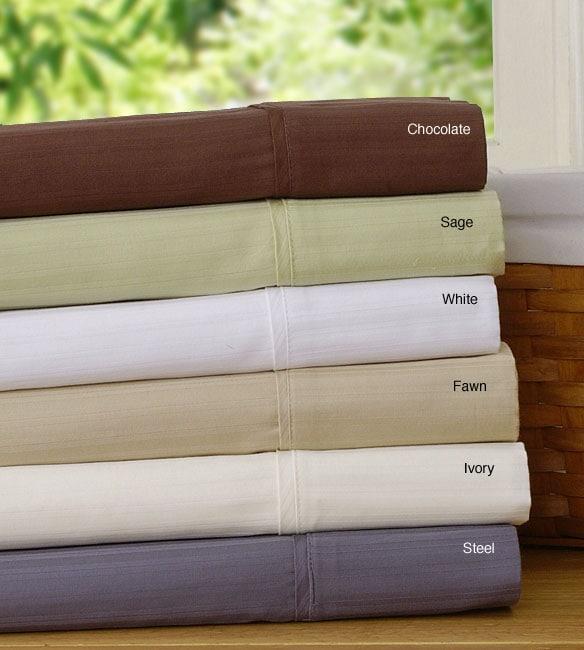 300 Thread Count Stripe Sateen Sheet Set