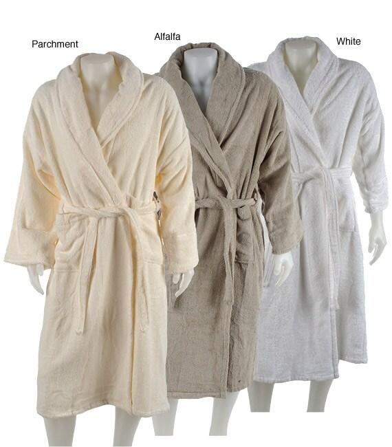 Alexandria Egyptian Cotton Shawl Spa Robe