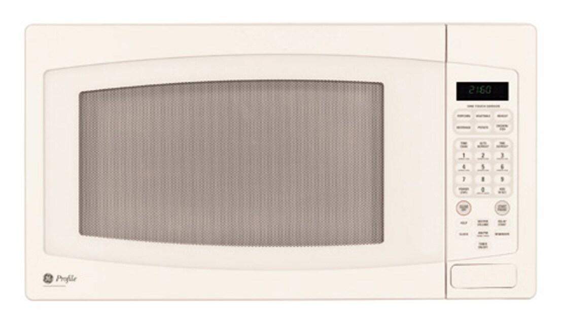 Ge Bisque Cream Countertop Microwave Oven Refurbished