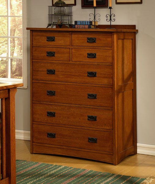 Mission Solid Oak 8 Drawer Dresser Free Shipping Today