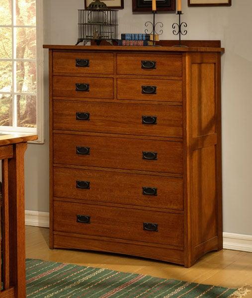 Mission Solid Oak 8-drawer Dresser
