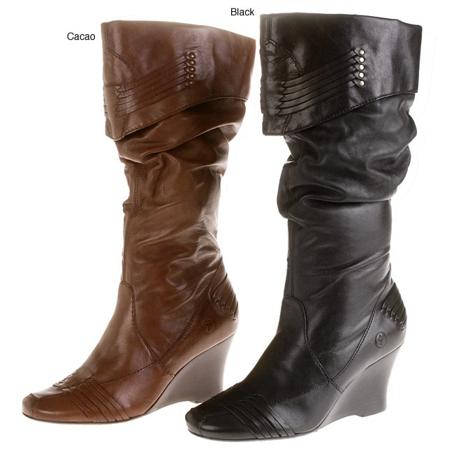 bronx shaft wedge boots free shipping today