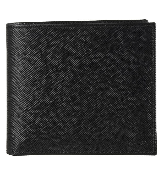 4a64c68c5b62 Shop Prada Leather Saffiano Bi-fold Wallet with Coin Pocket - Free Shipping  Today - Overstock - 2607635
