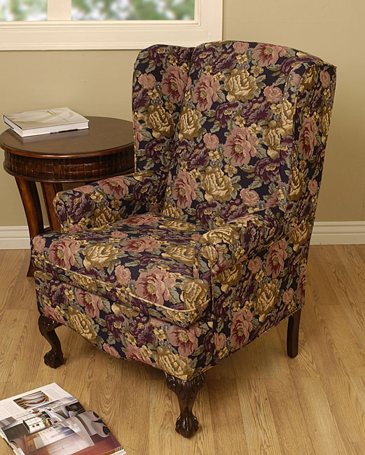 Navy Wing Back Chair