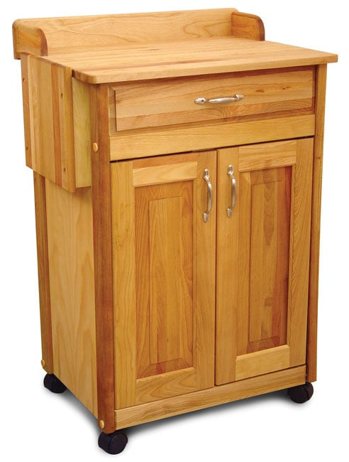Rolling Wood Kitchen Cart Free Shipping Today
