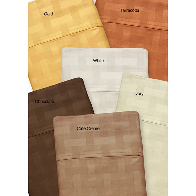 Jacquard 600 Thread Count Basketweave Sheet Set