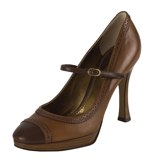 460e26e48e Shop Dolce & Gabbana Tobacco Brown High-heel Pumps - Free Shipping Today -  Overstock - 2613855