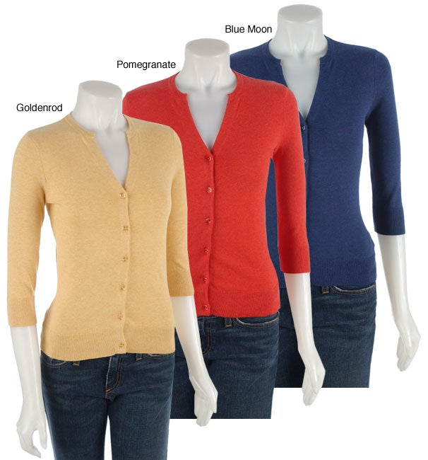 55eb3c313ad Shop Kersh Women s 3 4 Sleeve Cardigan Sweater - Free Shipping On Orders  Over  45 - Overstock - 2614283
