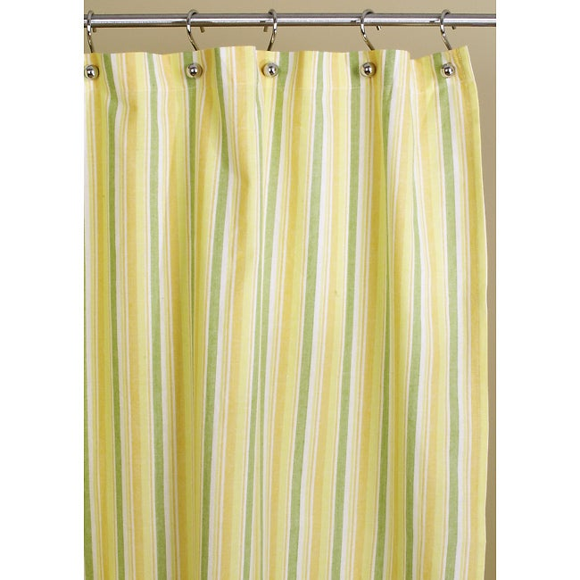 Citrus Stripe Cotton Shower Curtain Free Shipping On Orders Over 45 10822448
