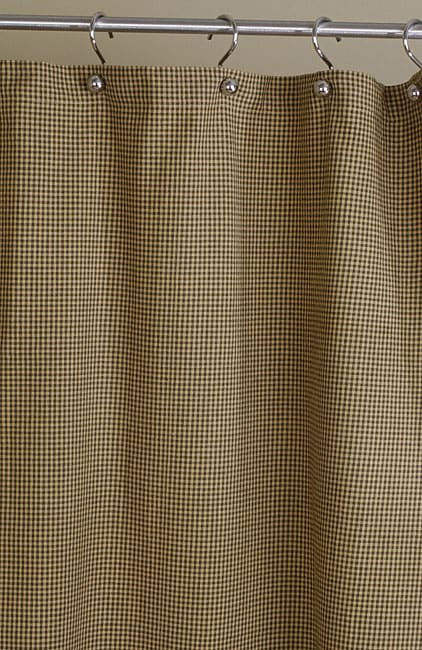 Brown and Tan Plaid Cotton Shower Curtain Free Shipping On