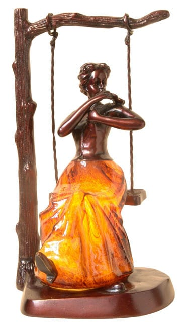 Shop Tiffany Style Lady On A Swing Accent Lamp Free