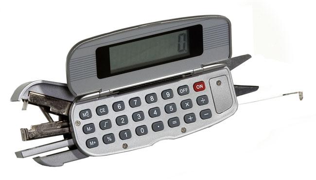 5-in-1 Office Tool w/ Calculator, Stapler