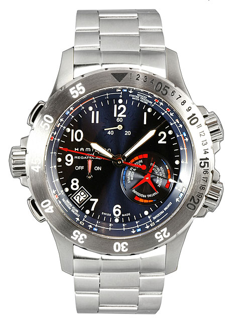 Hamilton Khaki Navy Regatta Alarm Men's Watch