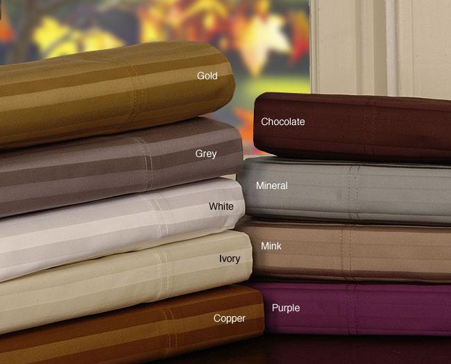 Luxury 1000 Thread Count Dobby Stripe Cotton Sheet Set