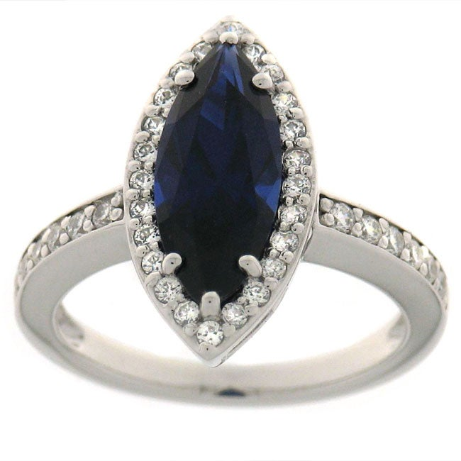 Maddy Emerson 'True Blue' Synthetic Sapphire Ring