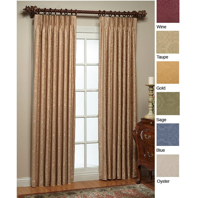 Thermal Damask Pinch Pleated 84 Inch Panel Pair Free