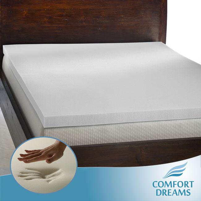 Comfort Dreams Enviro Green 3-inch Queen/ King-size Memory Foam Mattress Topper