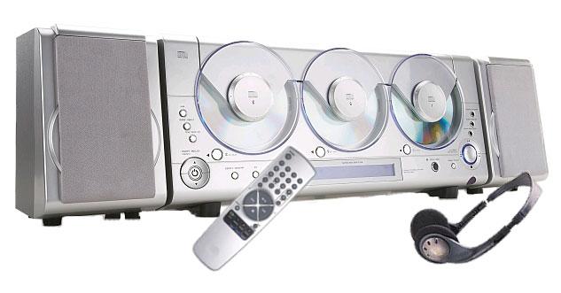 digital stereo multi cd player am fm tuner remote free. Black Bedroom Furniture Sets. Home Design Ideas