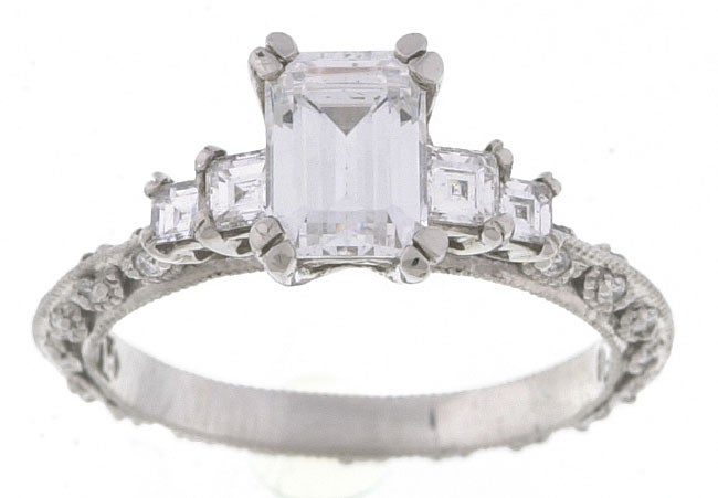 Tacori Platinum CZ 1/2ct TDW Diamond Wedding Ring