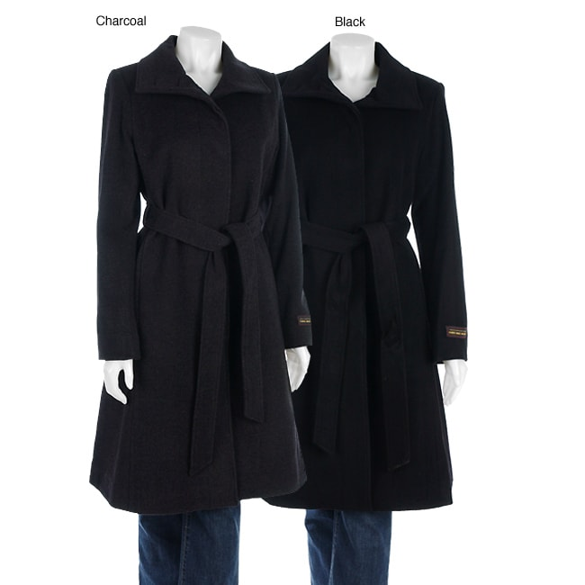 Harve Benard Belted Wool/ Cashmere Coat - Free Shipping Today