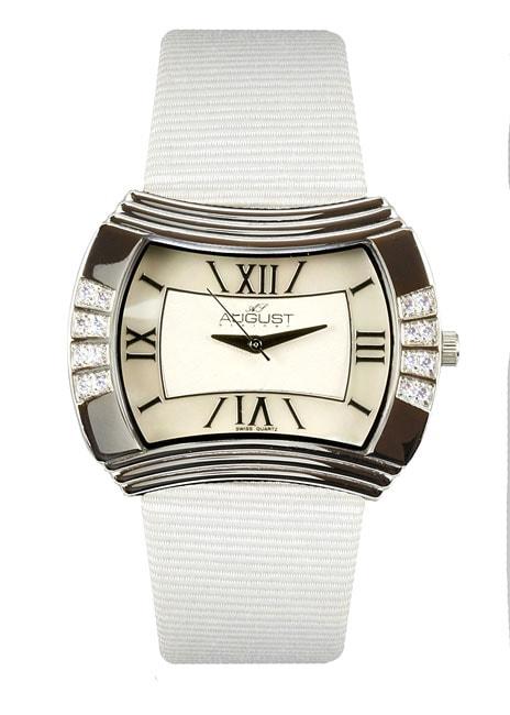 August Steiner Women's 'Versaci' White Watch