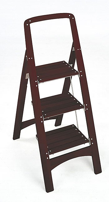 Peachy Wooden Three Step Stepstool Pabps2019 Chair Design Images Pabps2019Com