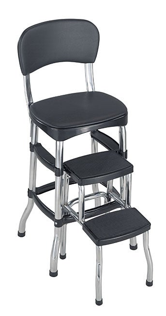 Black Retro Chair Step Stool Free Shipping Today
