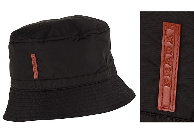 b3c23ffce71 Shop Prada Black Nylon Bucket Hat - Free Shipping Today - Overstock -  2647675