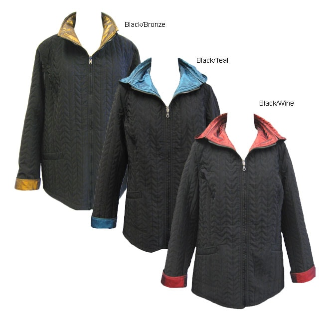 0c8fedafd9c Shop Komitor Plus Size Reversible Hooded Jacket - Free Shipping On Orders  Over  45 - Overstock - 2647802
