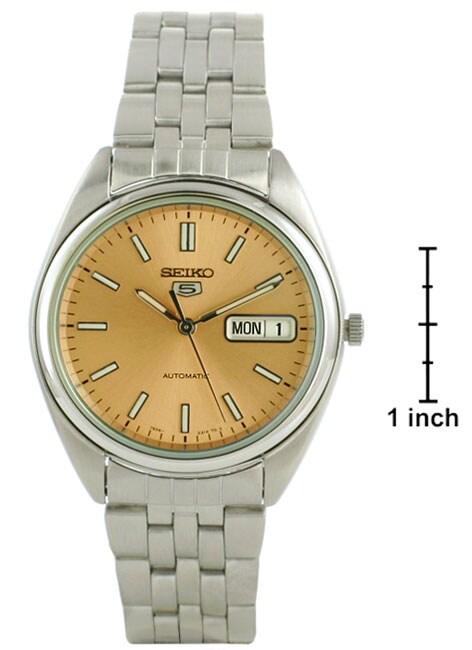 Seiko Men's Automatic Copper Dial Steel Watch