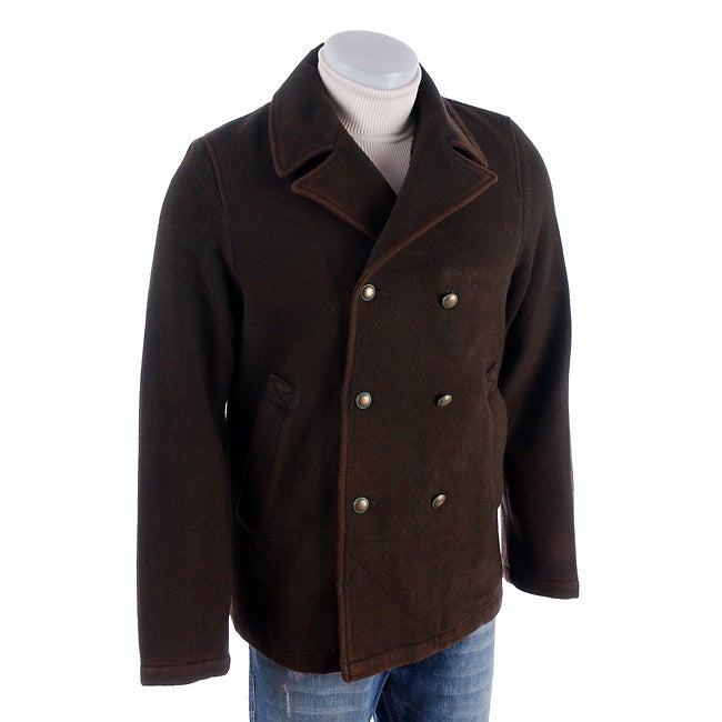 402c2b729f Shop Rogue Men's Washed Wool Pea Coat - Free Shipping Today - Overstock -  2648105