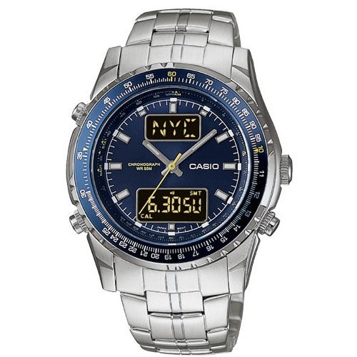 861c46c8e Shop Casio Men's Ana-Digi Slide-Rule Bezel Men's Watch - Free Shipping Today  - Overstock - 2649912