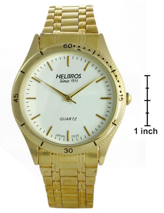 Helbros Men's Round White Dial Watch