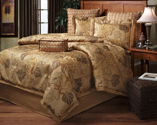 Flamboyant Gold Luxury 4-piece Comforter Set (Queen)
