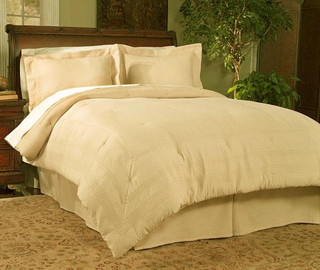 Diamond Jacquard Matelasse Comforter Bedding Set (4-piece)