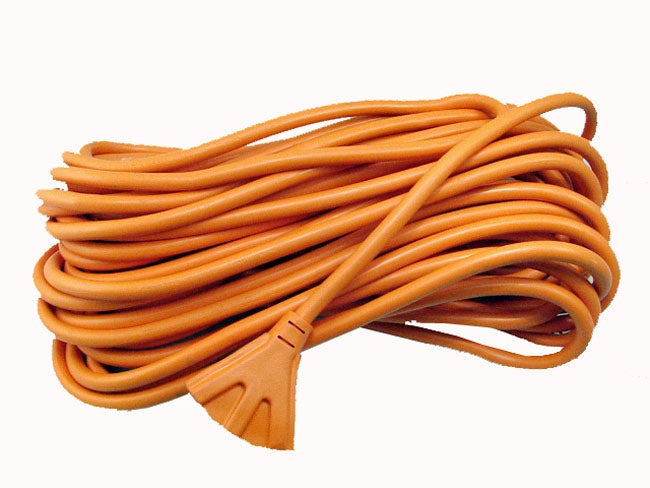 100-foot 3-outlet 12/3 Wire Extension Cord