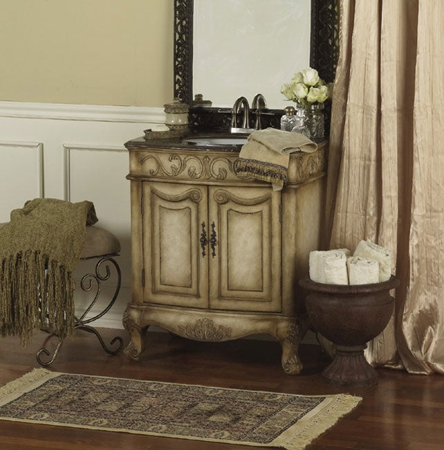 Country French Vanity Sink with Marble Top