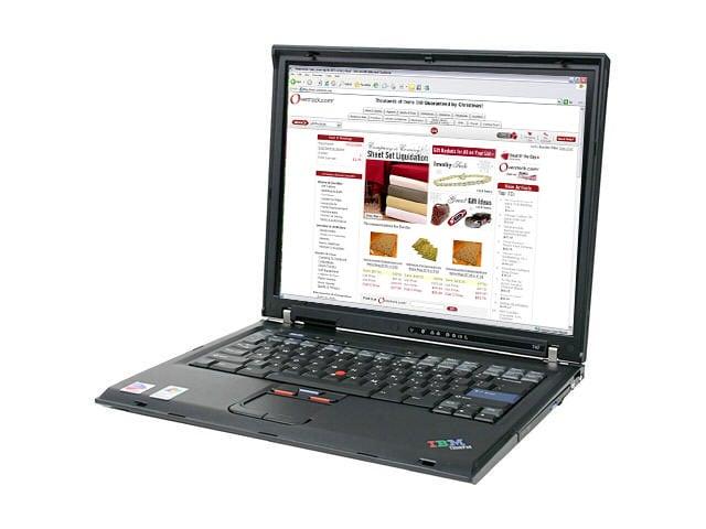 02376479d130 Lenovo Thinkpad T42 Pentium 1.7 GHz Laptop (Refurbished)